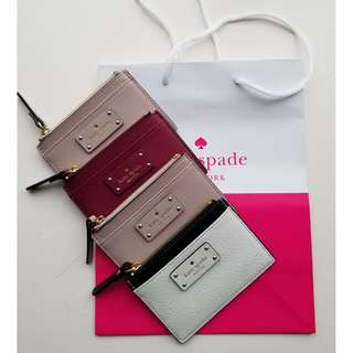 kate spade leather card holder and coin purse 零錢包 + 卡包