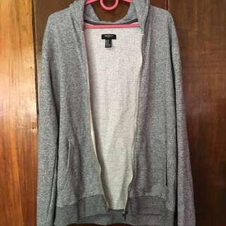 ✨ REPRICED ✨ F21 Gray Jacket with pockets & hood (M)