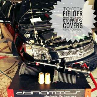 Toyota Fielder : Front_Absorbers / Stoppers / Absorber_Dust_Covers Replacement