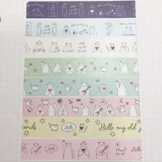 Daiso Washi Tape Samples