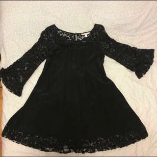 *99%新* Rebecca Taylor lace dress 黑色連身裙