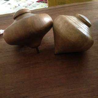 Vintage malay Gasing. Solid wood