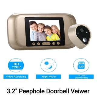 "3.2"" Peephole Doorbell Viewer Camera"