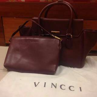 Vincci handbag + pouch include postage!!