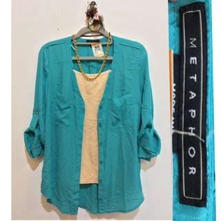 Metaphor Long Sleeve Blouse with Tag