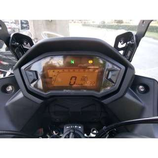 Honda CB400X Screen Protector Orange/Clear