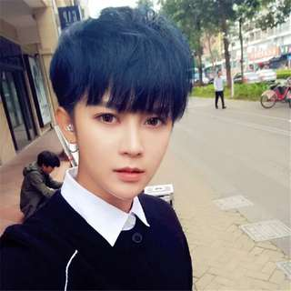 Korean style guy wig / guy hair wig / mens hair wig