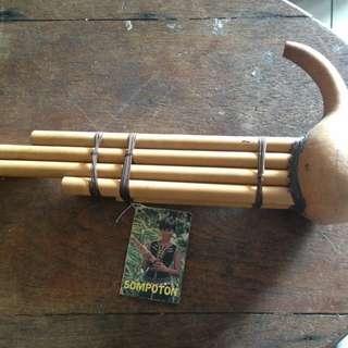 Handmade vintage borneo music instrument