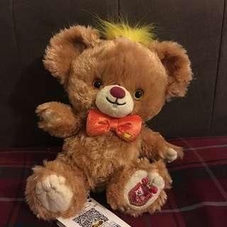 迪士尼大學熊 五週年愛麗絲 三月兔ss娃娃 A