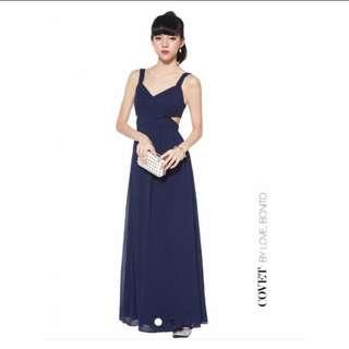 Love Bonito Covet Jacen Maxi Dress in Navy Size S