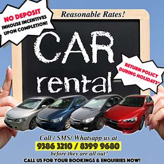💥 NO DEPOSIT! 💥 Car Rental Leasing for U!