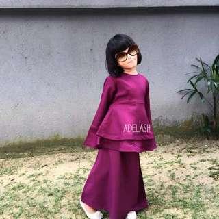 Baju kurung budak (peplum princess)
