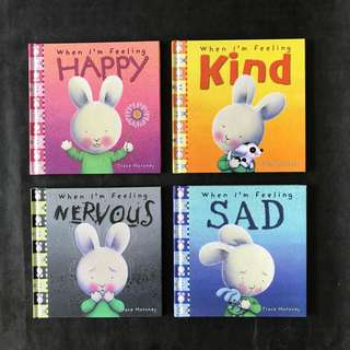 💥NEW- When I am feeling set of 4 - Hard Cover - Children Storybooks