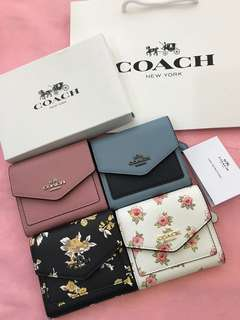 Original coach women wallet purse pouch coin bag authentic ready stock wristlets
