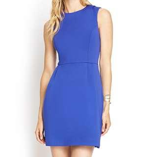 (S) Forever21 Cornflower Blue Dress