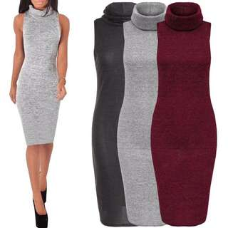 Sleeveless Bodycon Knitted Dress