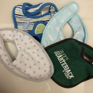 assorted bibs for baby