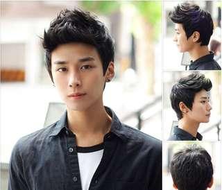 Korean style guy hair wig / men's hair wig