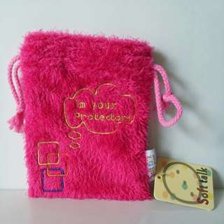 FURRY STRING POUCH/BAG includes POSTAGE