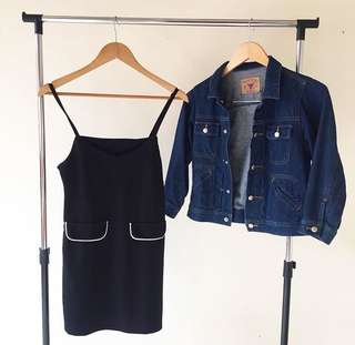 Dress Outer & Jeans crop jacket