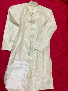 Kurta india atau baju india cowok 1 set dengan celana
