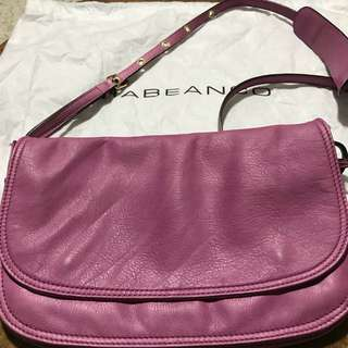 Rabeanco leather sling bag fuchsia