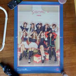 twice signal blue ver poster official 💙