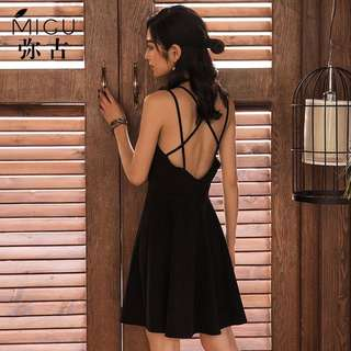Black Criss Cross Dress S M L