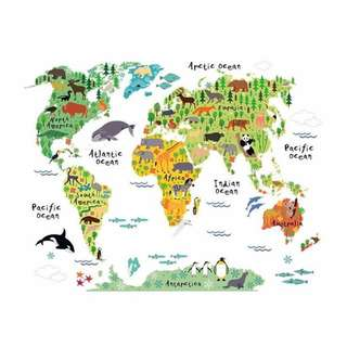 My World Map Wall Sticker Decal