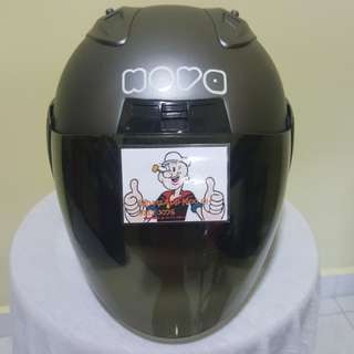 2402***Nova Matt Grey with Tinted Visor Helmet For Sale 😁😁Thanks To All My Buyer Support 🐇🐇 Yamaha, Honda, Suzuki