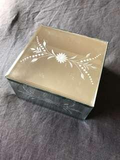 Glass mirror jewellery box
