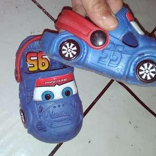 Sepatu sandal Cars Biru