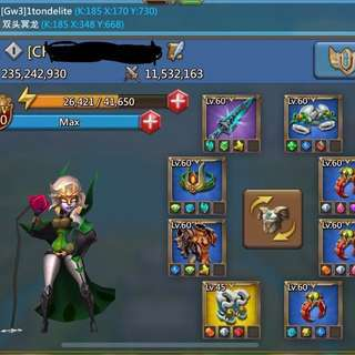 250m Lords Mobile Account