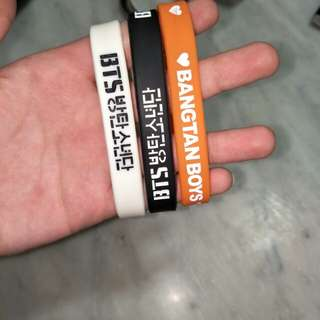 Bts and got 7 hand bands