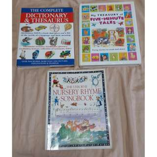 :) DICTIONARY/FAIRYTALES STORYBOOK/SONGBOOK