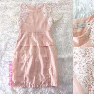 *Robein peach lace dress