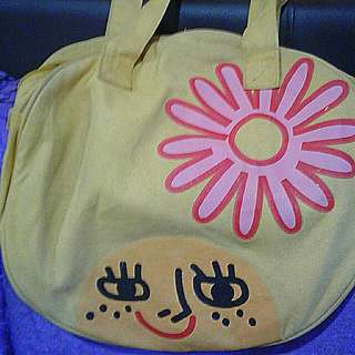 Round bag  Afro Girl with flower  Pick up hougang buangkok mrr