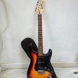 90%new guitar 電吉他 beyond1983 家駒日落色 3排吸音器 結它 electric guitar