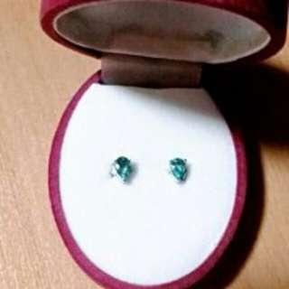靚純銀 水晶耳環~