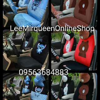 New Character Seat cover Cony ,Brown and Stitch