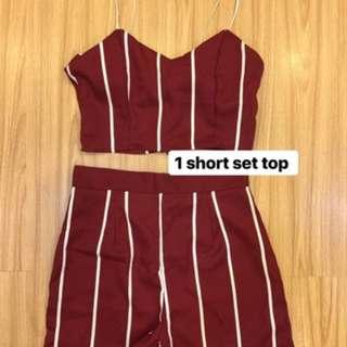 Short set top