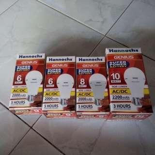 Lampu emergency Hannochs  raedy 6watt.8.10,12,15watt PO ya say ..
