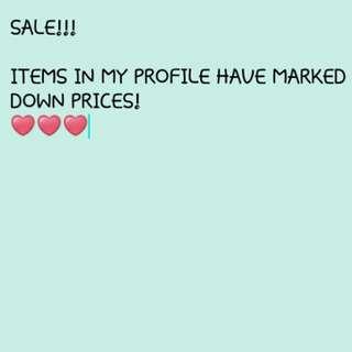 SALE!!! Check my profile! ❤👀
