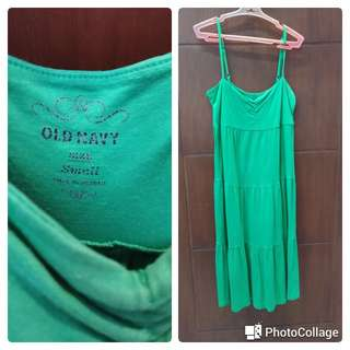 Green printed sundress from Old Navy