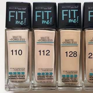 Maybelline Fit Me Matte Poreless Liquid Foundation