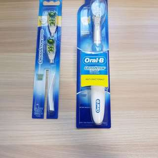 Oral-B Cross Action Power Electric Toothbrush with 2x Refill