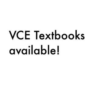 VCE Textbooks available!!