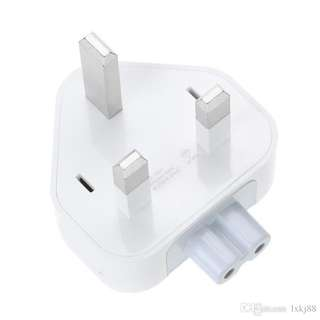 Adapter Socket 3 Pin AC Power Plug Converter Charger For Apple (Original)