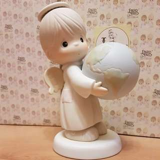 Precious Moments 9 Inch Figurine - He's Got The Whole Earth In His Hands