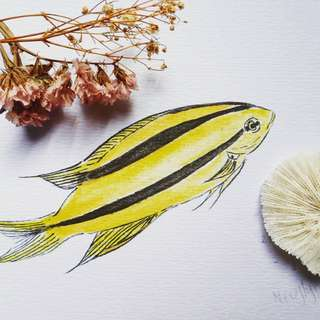 Art - yellow chromis